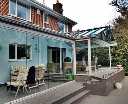 Frameless Glazed Extension
