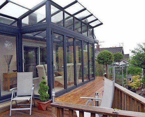 Modern Glass Extension Outside