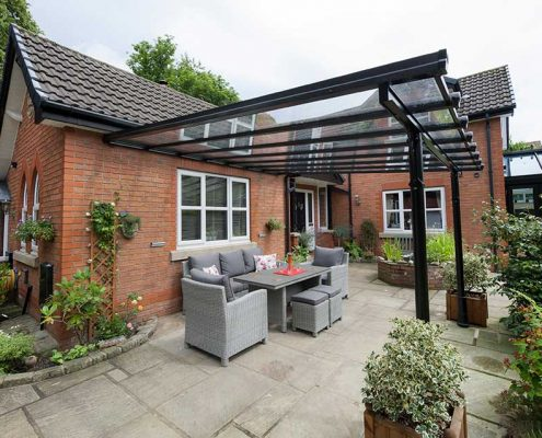 Glass Patio Veranda Black