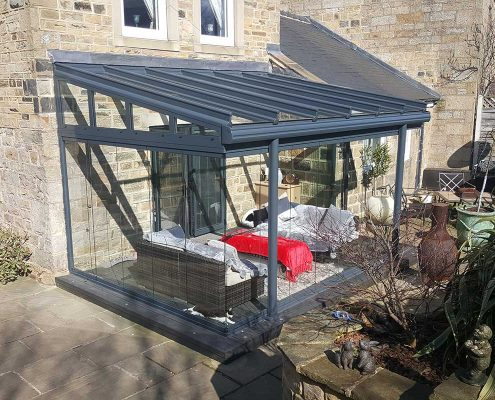 Glass Frameless Extension in Harrogate