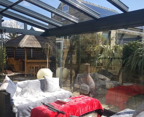 Glass Frameless Extension in Harrogate